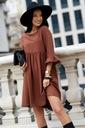 Sukienka Sugarfree oversize brązowa rozmiar M Kolor brązowy