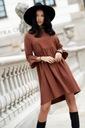 Sukienka Sugarfree oversize brązowa rozmiar M Wzór dominujący bez wzoru