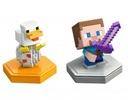 Minecraft Atakujący Steve i kurczak GKT42