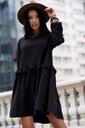 Sukienka Sugarfree oversize czarna rozmiar L Szerokość pod pachami 53 cm