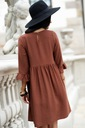 Sukienka Sugarfree oversize brązowa rozmiar M Dekolt okrągły