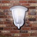 Lampa Kinkiet Ogrodowy Zewnętrzny BIAŁY LED Zasilanie sieciowe