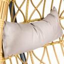 Fotel wiszący ogrodowy bujany kokon kosz ECHO Średnica/szerokość maksymalna 105 cm