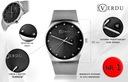 Elegancki zegarek damski RV bransoleta mesh grawer Styl klasyczny
