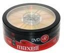 Płyty Maxell DVD-R 4,7gb szt 25 NIEZAWODNE