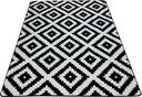 Dywan czarno biały 80x150 ROMBY SKANDYNAWSKI mono