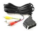 Kabel wtyk EURO SCART / 3x RCA cinch 1,2m FV(0473)