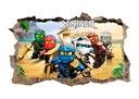 Naklejka plakat na ścianę LEGO NINJAGO ! 3D XL !
