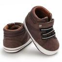 Buty na jesień wysokie trampki brązowe 20 12cm 6m