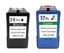 Lexmark 36 XL + 37 XL Z2410 X3650 X4650 KOMPLET FV