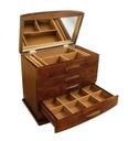 KUFEREK Szkatułka na biżuterię BRĄZOWA brąz drewno Waga (z opakowaniem) 4 kg