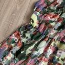 Szyfonowa asymetryczna kolorowa sukienka XS 34 Kolor ecru brązowy, beżowy czerwony fioletowy niebieski pomarańczowy różowy zielony żółty, złoty wielokolorowy granatowy