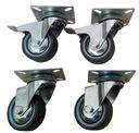 Zestaw kółek fi 50 skrętne i z hamulcem kółko koło