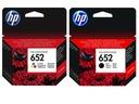 ZESTAW TUSZY HP 652 CZARNY+ KOLOR F6V25AE/F6V24AE EAN 5903818418126