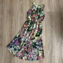 Szyfonowa asymetryczna kolorowa sukienka XS 34 Rozmiar 34 (XS)