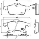 Tarcze Klocki Przód+Tył BREMBO OPEL ASTRA H 308mm Rodzaj tarcz Wentylowane