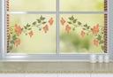 Statische Aufkleber auf das Fenster der Blumen am Fenster