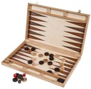 SQUARE - Backgammon - 40 cm - Buk - Intarsja