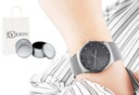 Elegancki zegarek damski RV bransoleta mesh grawer Rodzaj analogowe
