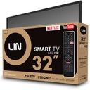 Telewizor LIN LED 32D1700 SMART HD Standard kodowania MPEG-4