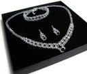 KOMPLET Bix05 Swarovski CRYSTAL biżuteria ślubna