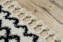 Dywan BOHO shaggy 140x190 biały frędzle #GR2854 Długość 190 cm