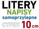 LITERY i CYFRY SAMOPRZYLEPNE naklejki literki 10cm