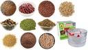 KIEŁKOWNICA 3 SZALKI + 10 opakowań nasion - KIEŁKI Waga 0 g