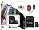 KINGSTON KARTA 128 GB MICRO SD CLASS 10 + CZYTNIK