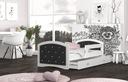 Łóżko tapicerowane materac szuflada 160x80 MEGI Kolekcja Megi