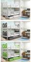 Łóżko MIKO 190x80 dla dzieci piętrowe + BARIERKA Marka BMS GROUP