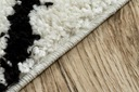 Dywan BOHO shaggy 140x190 biały frędzle #GR2854 Grubość 25 mm
