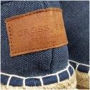 Espadryle CROSS Jeans damskie granat DD2R4108 39 Oryginalne opakowanie producenta pudełko