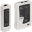 NEKU Tester kabli sieciowych LAN RJ45 RJ12 RJ11 Kod producenta 61.0004 Tester LAN z diodami LED