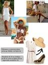 KAPELUSZ falowany SŁOMKOWY plażowy słońce Z GUMKĄ Kolor biały