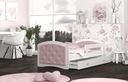 Łóżko tapicerowane materac szuflada 160x80 MEGI Długość 163 cm