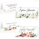 Winietki ślubne na stół ślub wesele weselne 4szt Wykończenie papieru matowe