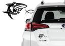 Naklejka na samochód rybka/rekin anty kler jezus