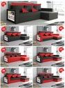 Narożnik rogówka rozkładany HUGO z funkcja spania Powierzchnia spania - długość (cm) do 150 cm