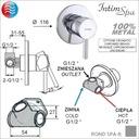 Bidetta комплект ROND3 смеситель/ручка/шланг IntimSPA