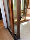 BALKON OKNO DĄB 177,5x218 PRZESUWNE Z WYSTAWKI Wysokość okna 2180 mm