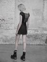 PUNK RAVE Top koszulka czarna siateczka goth XS-S Kolor czarny