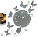 Zegar ścienny ModernClock - MOTYL- 14 Motyli SZARE Zasilanie bateryjne