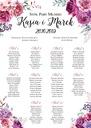 Плакат План Столов - Романтично свадьба 50х70 см