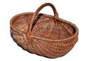 Solidny pojemny koszyk wiklinowy na grzyby rozmXXL