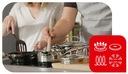 Zestaw TEFAL Duetto+ garnki z pokrywą 7el G719S734 Informacje dodatkowe możliwość mycia w zmywarce możliwość używania na kuchni indukcyjnej możliwość używania w piekarniku pokrywka w zestawie