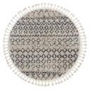 Dywan BERBER AGADIR koło 120 krem frędzle #GR2840 Kolor kremowy odcienie szarości