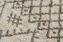 Dywan BOHO shaggy 80x150 frędzle krem #GR2822 Długość 150 cm