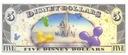 DISNEYLAND 5 Dollars 2009 РОМАШКА & МИННИ UNC