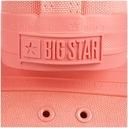 Trampki Big Star damskie czerwone DD274444 buty 38 Nosek okrągły